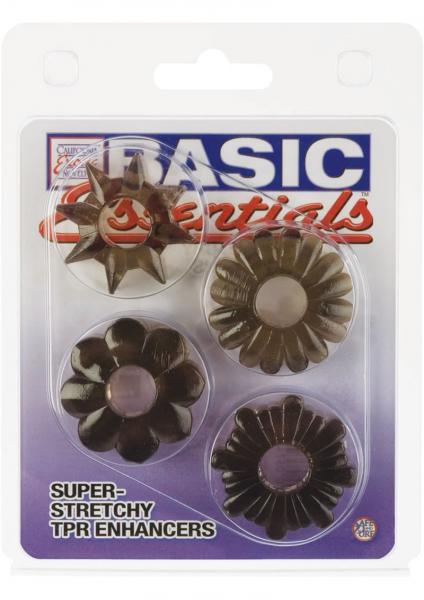 Basic Essentials Super Stretchy TPR Enhancers Assorted Shapes Smoke