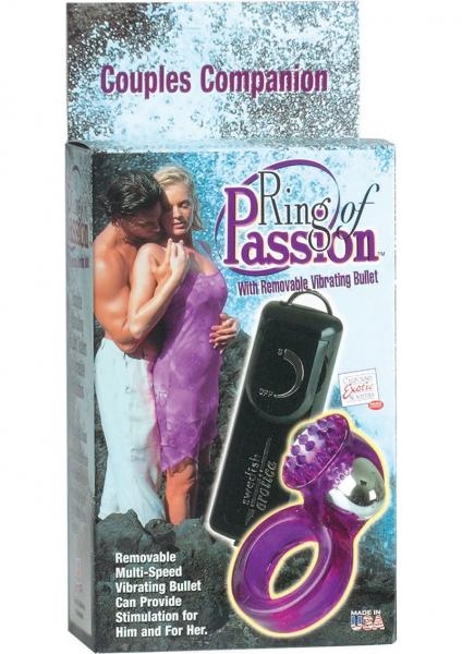 Ring Of Passion With Removable Vibrating Bullet Purple