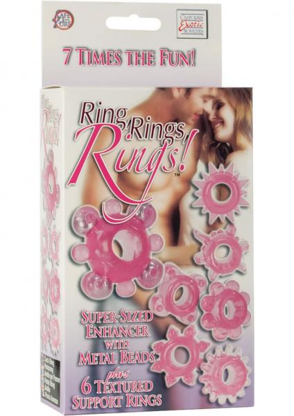 Rind Rings Rings Super Sized Enhancer Plus 6 textured Support Rings Pink