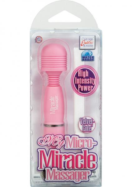My Micro Miracle Massager Velvet Cote Waterproof 4.25 Inch Pink