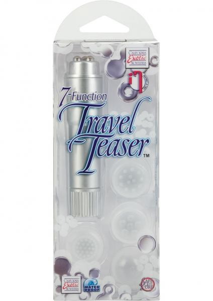 Travel Teaser 7 Function With 4 Tips Waterproof - Silver