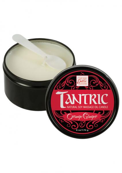 Tantric Natural Soy Massage Candle 6 Ounce Orange Breeze