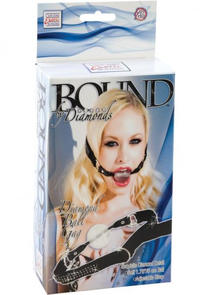 Bound By Diamonds Diamond Ball Gag Black