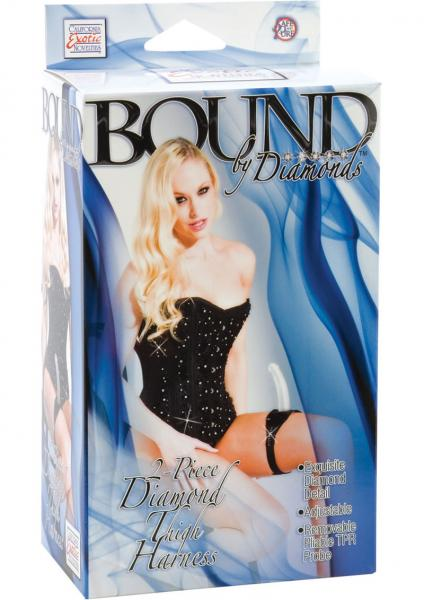 Bound By Diamonds 2 Piece Diamond Thigh Harness - Black