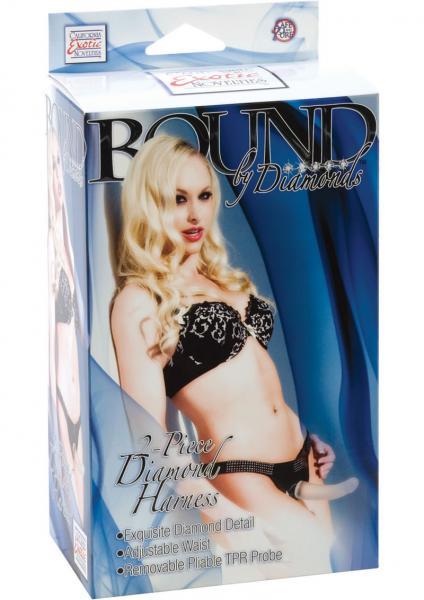 Bound By Diamonds 2 Piece Diamond Harness Black