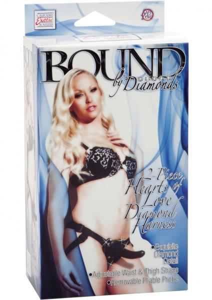 Bound By Diamonds 2 Piece Hearts Of Love Diamond Harness Black