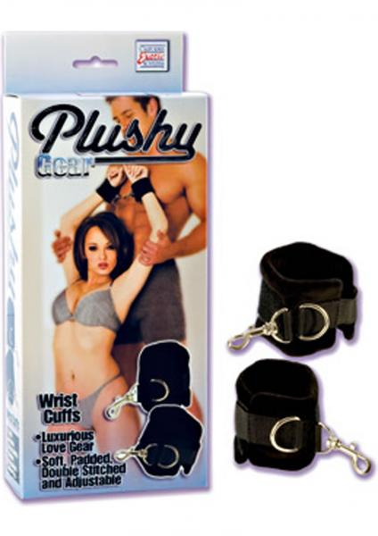Plushy Gear Lovers Wrist Cuffs Black