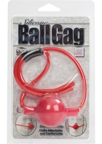 Silicone Ball Gag Red