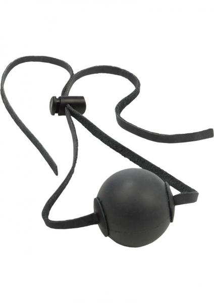 Ball Gag Black with Leather Straps