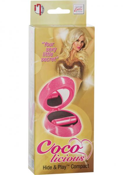 Coco Licious Hide & Play Compact Massager Waterproof Pink 3.25 Inch