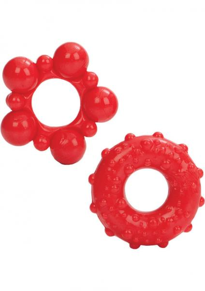 Anime Muscle Ring 2 Piece Pack Red