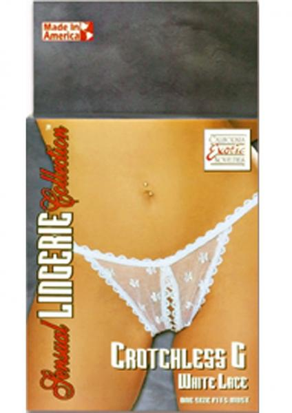 SENSUAL LINGERIE COLLECTION CROTCHLESS G WHITE LACE