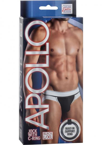 Apollo Jock With C-Ring Black Large/Xtra Large