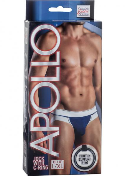 Apollo Jock With C-Ring Blue Large/Xtra Large