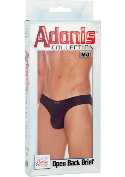 Adonis Open Back Brief Black Medium/Large