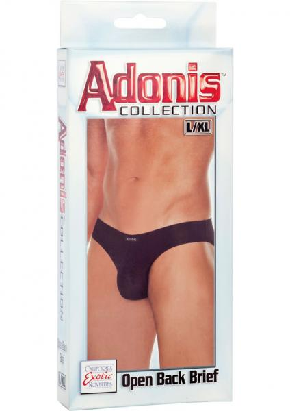 Adonis Open Back Brief Black Large/Xtra Large