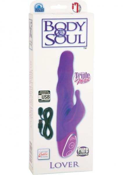 Body & Soul Triple Motor Lover Silicone Vibrator Waterproof Purple