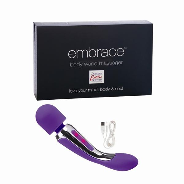 Embrace Rechargeable Silicone Body Wand - Purple