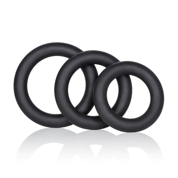 Silicone Support Rings 3 Pack Black
