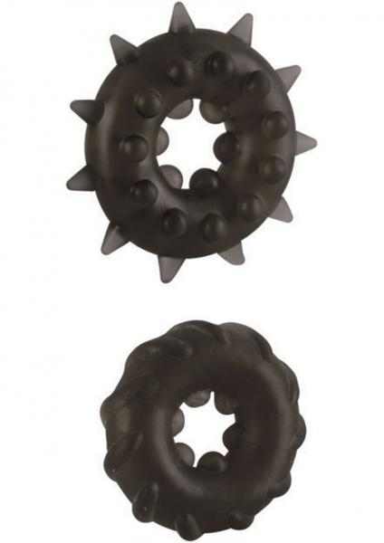 DR JOEL KAPLAN ENHANCER RINGS SET OF 2 BLACK SILICONE