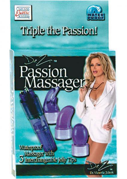 Massager 3 Interchangable Tips Purple