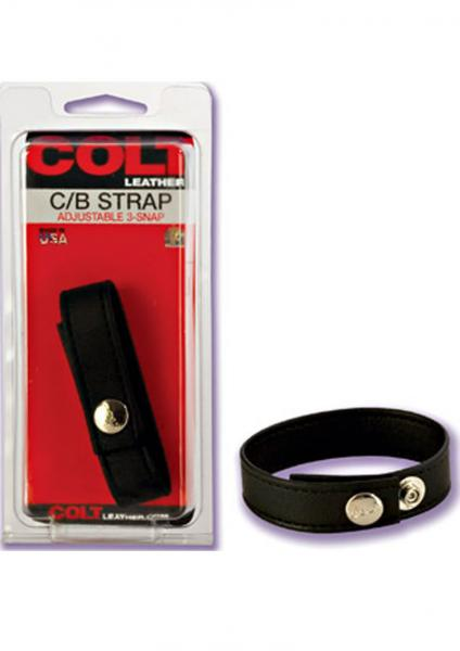 COLT LEATHER COCK & BALLS 3 SNAP FASTENER