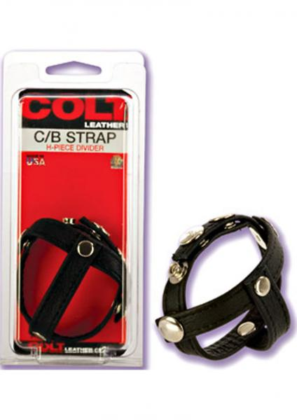 COLT LEATHER COCK & BALL STRIP H PIECE DIVIDER