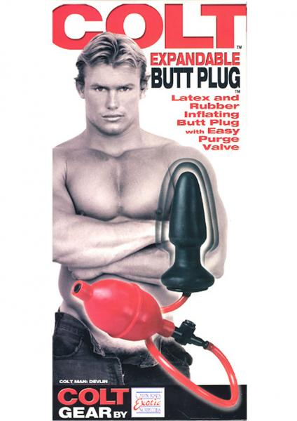 COLT EXPANDABLE BUTT PLUG DEVLIN BLACK & RED