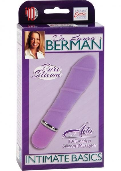 Ada 10 Function Silicone Vibrator Waterproof 4 Inch - Purple