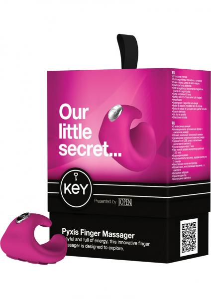 Key Pyxis Silicone Finger Massager Waterproof Pink