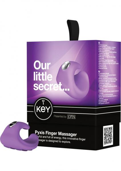 Key Pyxis Silicone Finger Massager Waterproof Lavender