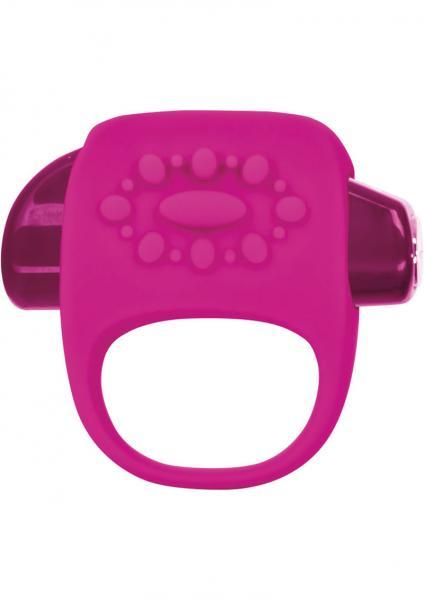 Key Halo Silicone Vibrating Ring Waterproof Raspberry Pink