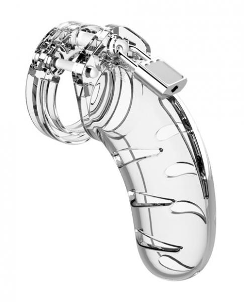 Mancage Model 03 Chastity 4.5 inches Cock Cage Clear