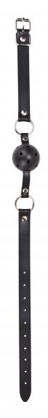 Ouch Ball Gag Leather Straps Black O/S