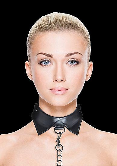 Ouch Exclusive Collar And Leash Black