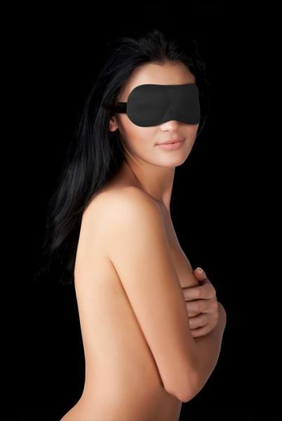 Ouch Curvy Eye Mask Black Blindfold O/S