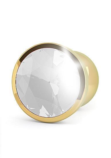 Rich R1 Gold Plug 3.93 inches Clear Sapphire