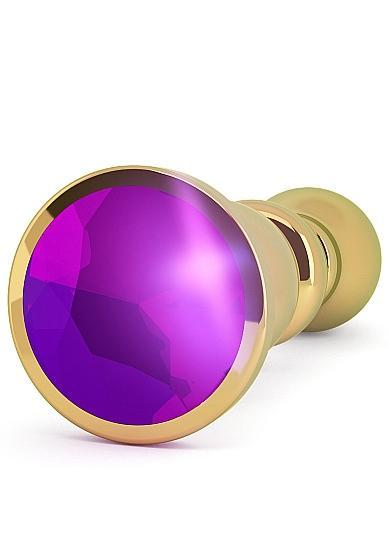 Rich R2 Gold Plug 4.8 inches Purple Sapphire