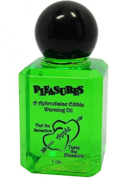 Pleasures Aphrodisiac Edible Warming Oil Apple 1oz