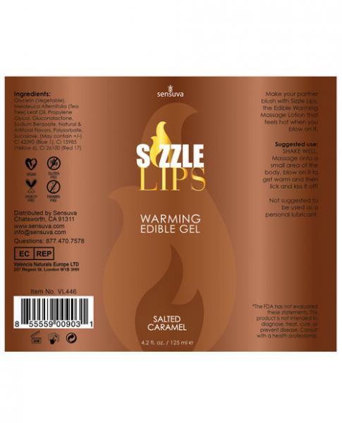 Sizzle Lips Salted Caramel Warming Gel 4.2oz