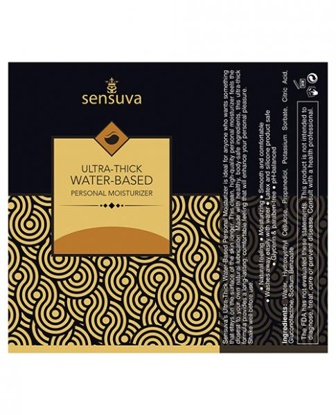 Sensuva Ultra Thick Water Based Personal Moisturizer Salted Caramel 4.23oz
