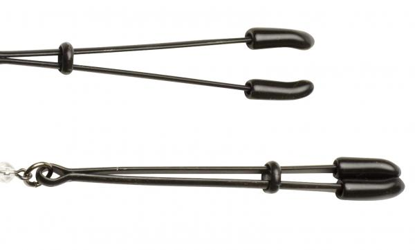 Black Beaded Nipple Clamps With Tweezer Tip Black