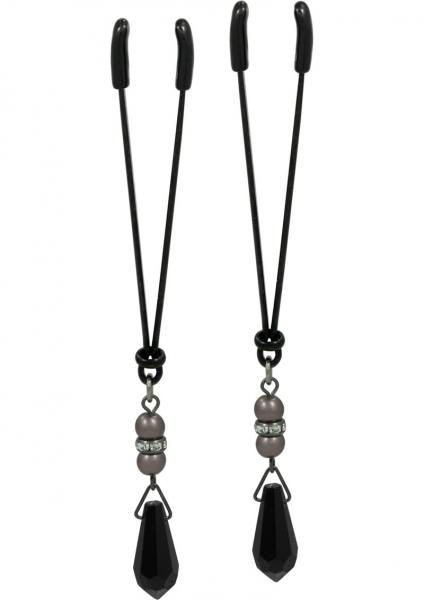 Lavish Black Pearl Clamps Tweezers - BLack