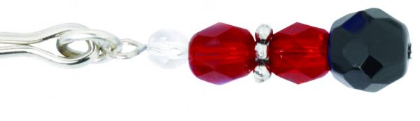 Beaded Clit Clamp With Tweezer Tip - Red