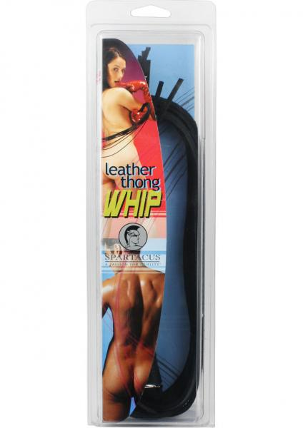 Leather Thong Whip 30 Inch - Black