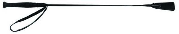 26 Inch Basic Riding Crop Black Leather