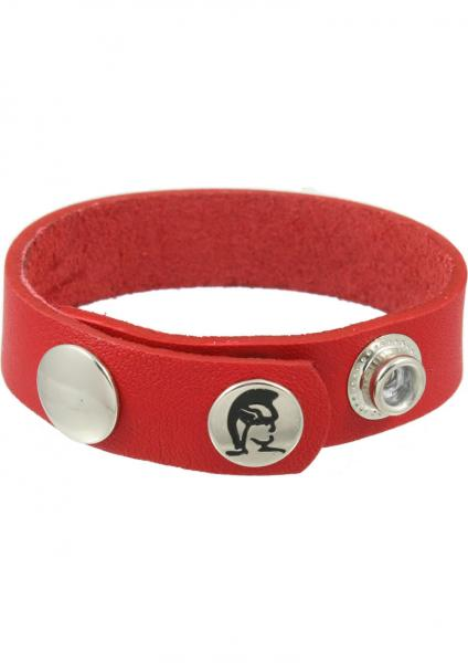 Redline Oiltan Cock Ring Leather - Red