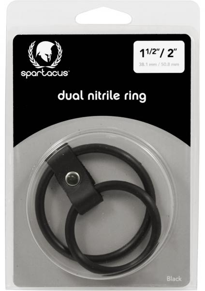 Nitrile Dual Cock Ring Black