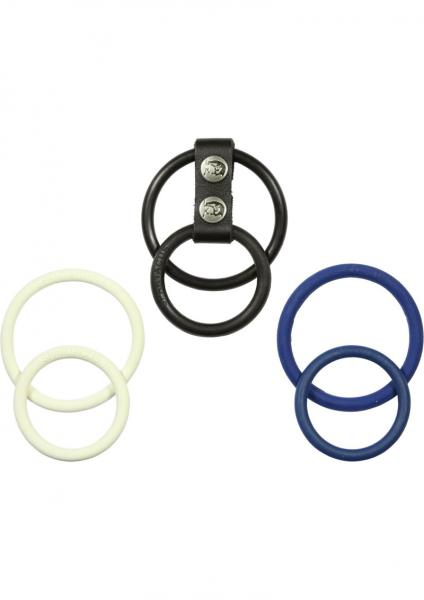 Nitrile Three Color Dual Ring Set