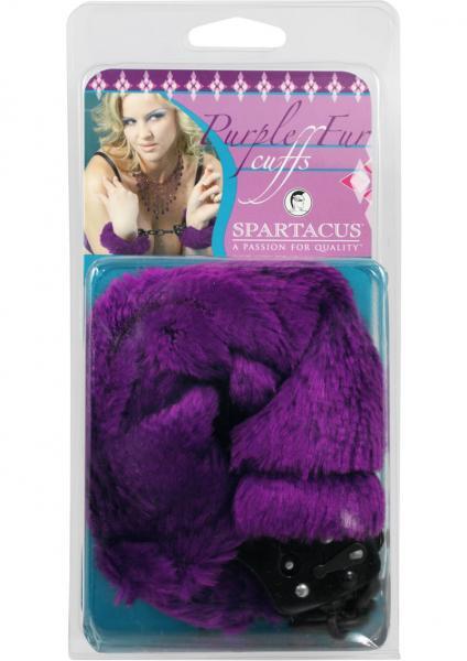 Black Handcuffs W/Purple Fur Line